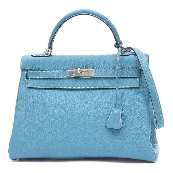 51f76027c2872 ... where to buy lyst hermès kelly 32 inside sewing togo blue jean  silverhardware g 50cf6 8fe5e