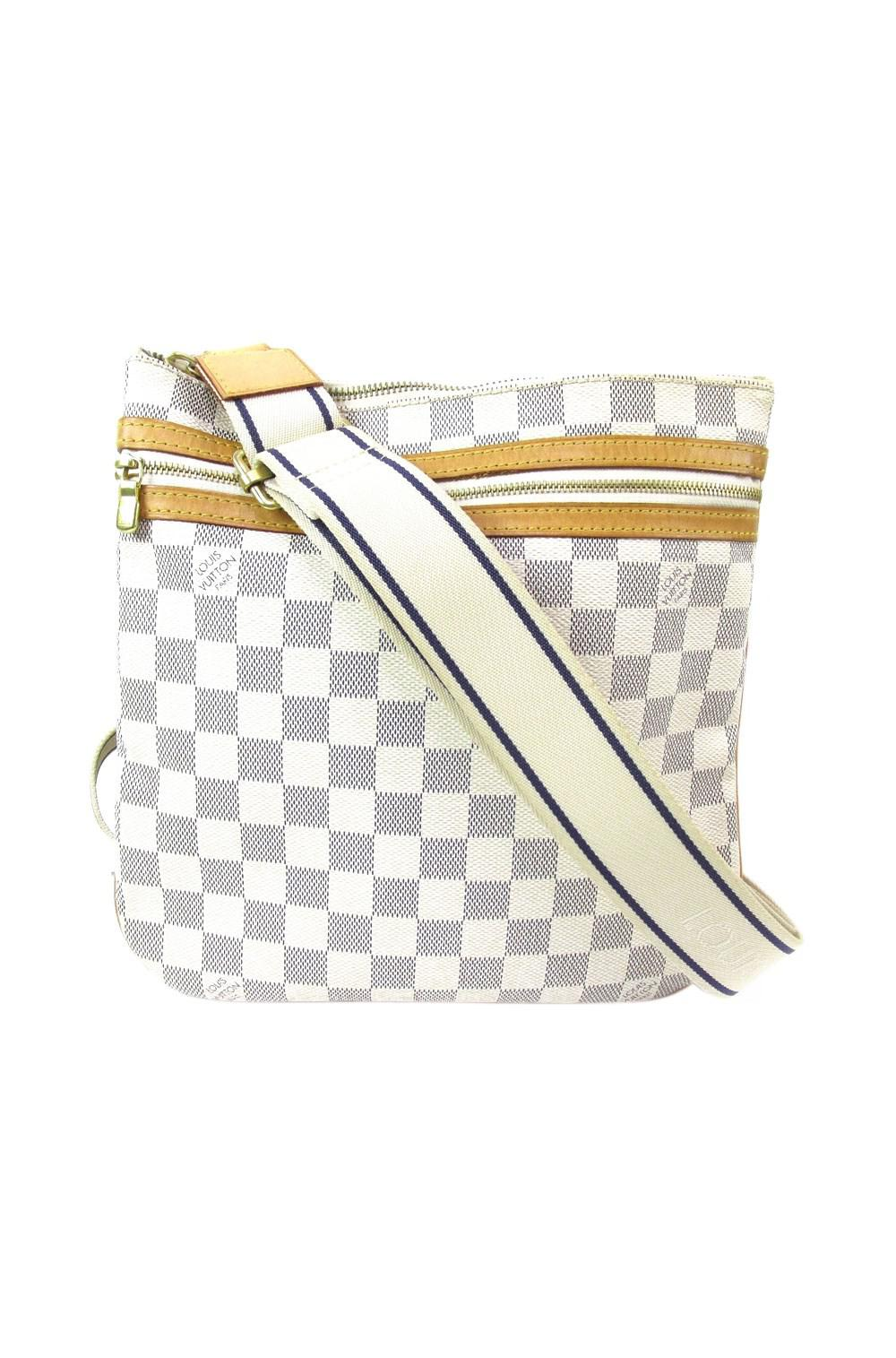 5cd510511b Lyst - Louis Vuitton Auth Damier Azur Canvas Pochette Bosphore ...
