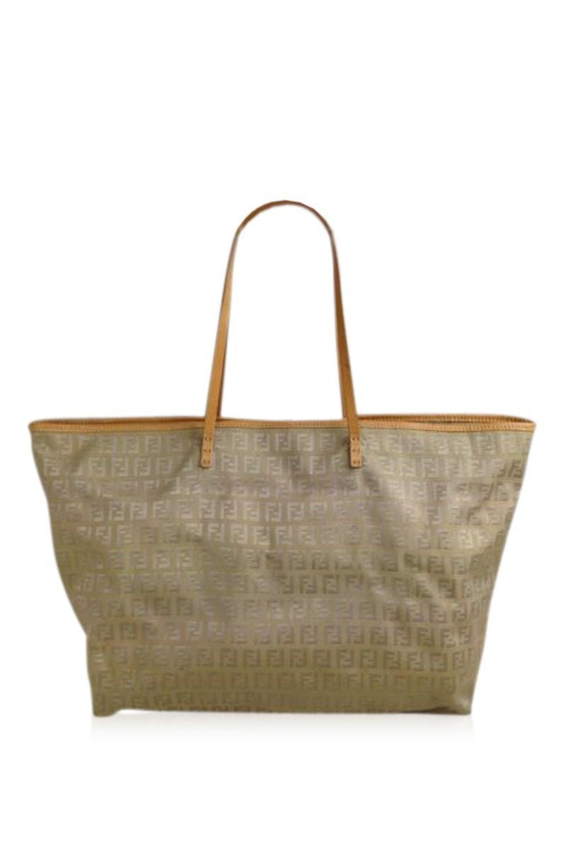 88aaec4b03d Lyst - Fendi Zucca Pattern Logos Shoulder Bag Brown Canvas 5d131380 ...
