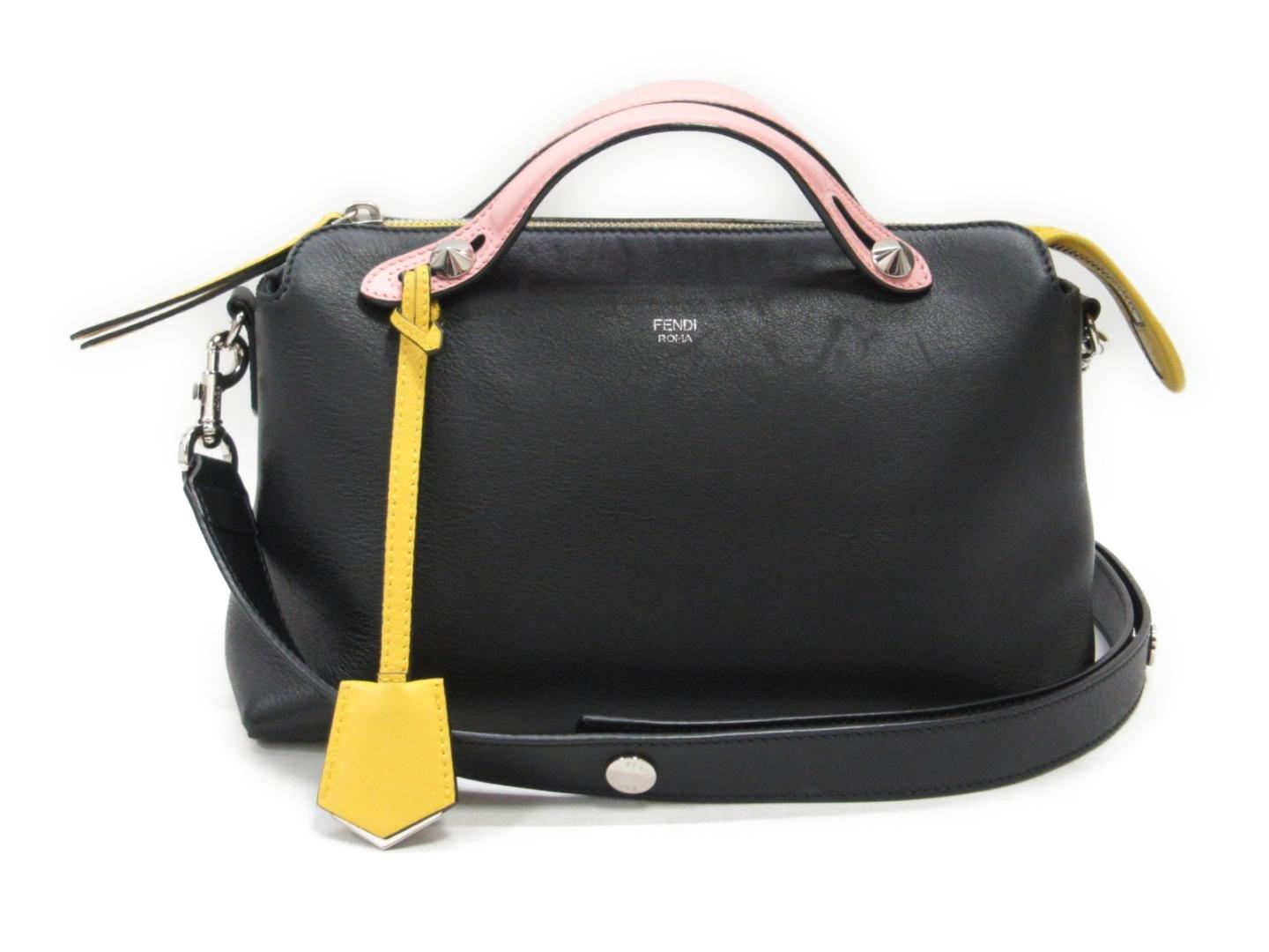 caf6692adbe7 Lyst - Fendi By The Way 2way Hand Shoulder Bag Blackxpinkxyellow ...