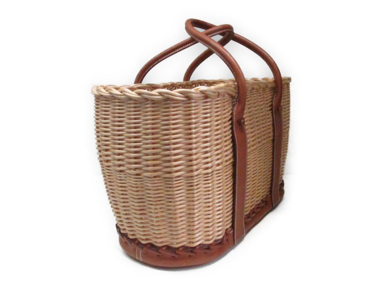 Lyst - Hermès Garden Picnic Basket Tote Hand Bag Barenia Leather ...