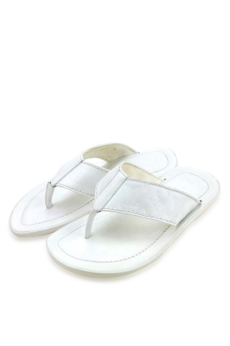 the latest 8d678 20dd1 Louis Vuitton Sandals Monogram Men Used T4361 in White - Lyst