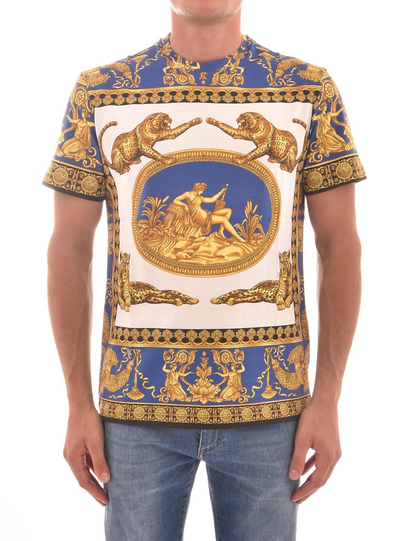 f8aff66d494aa3 Lyst - Versace T-shirt Light Blue in Blue for Men