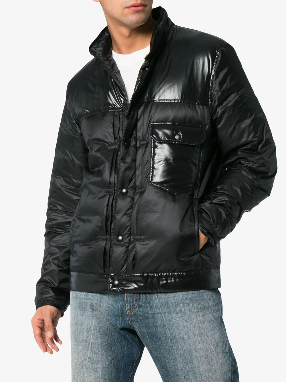 2e03d9dbfcae Fragment And Moncler Down In Lyst Padded Shell Black Men For Jacket 7 EXURnq