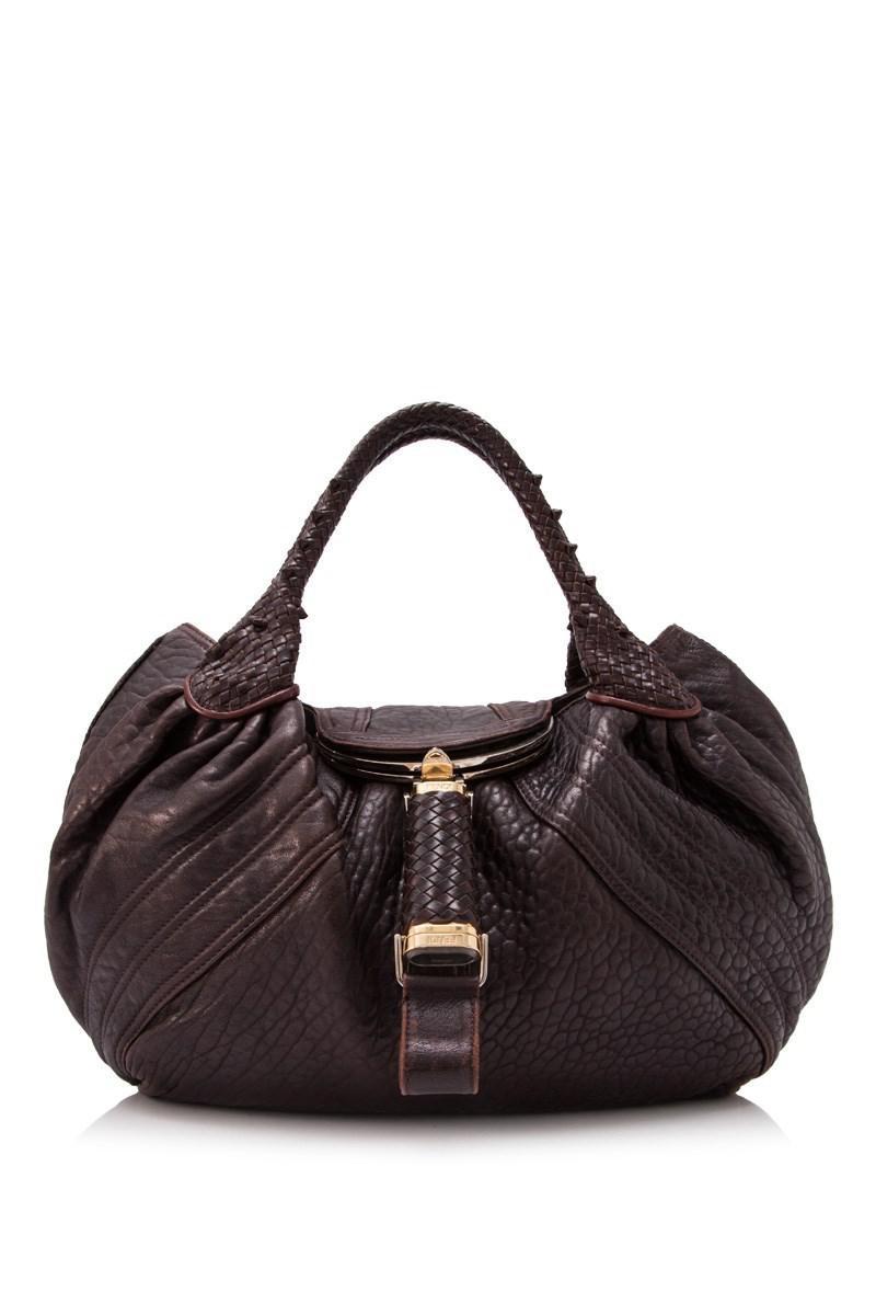 Pre-owned - Spy leather handbag Fendi bVVAulc7hp