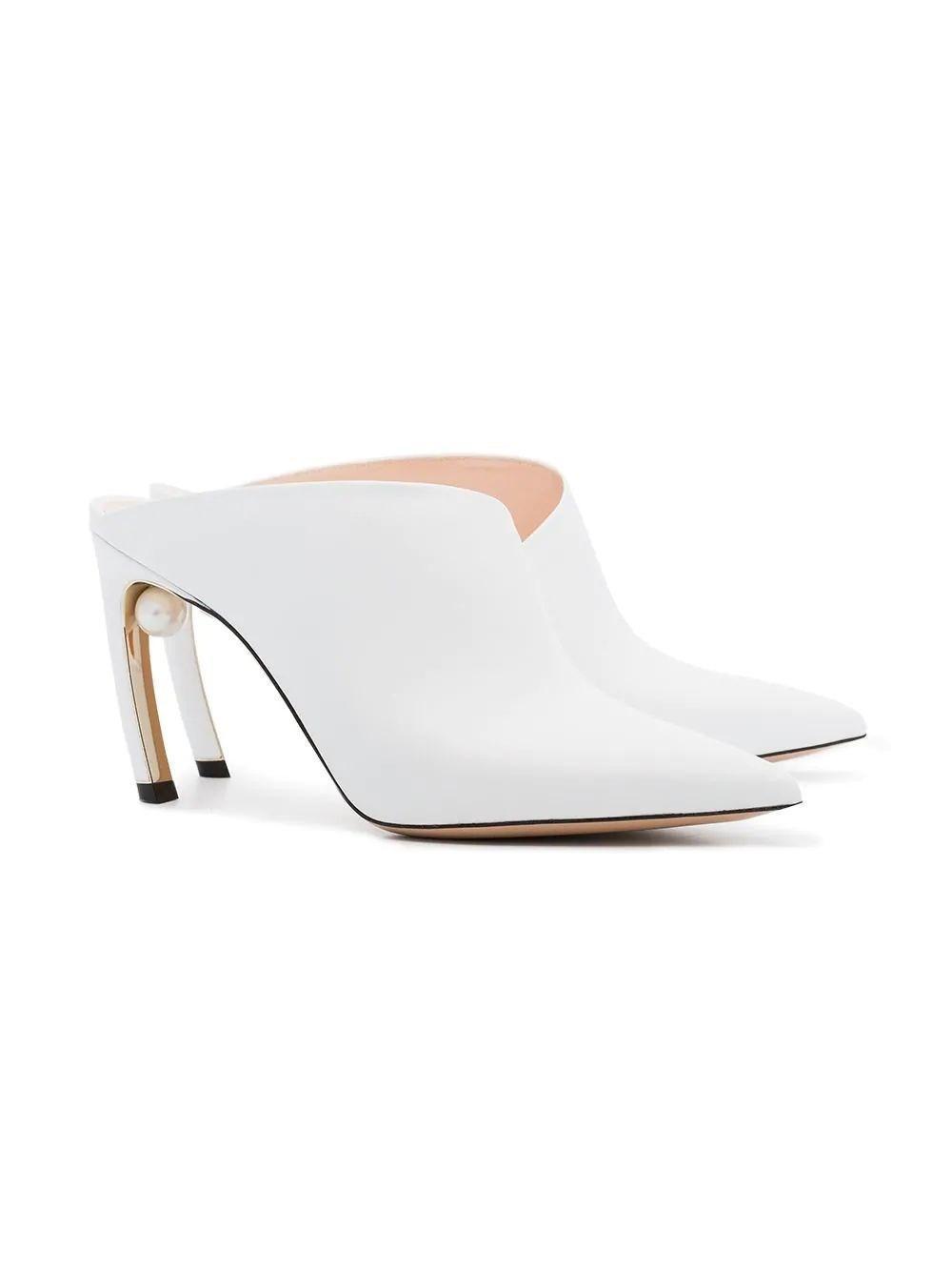 13261c7b2c5 Lyst - Nicholas Kirkwood Women s 909a51vls4w01 White Leather Heels in White
