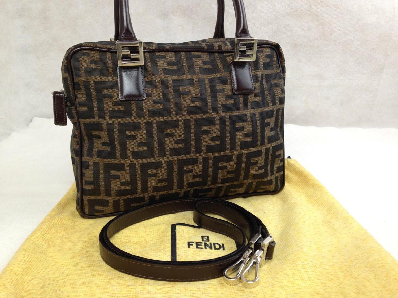 f31a9025c010 ... get lyst fendi zucca handbag shoulder bag 2 way brown vintage 5j06t130  d212c f0f17 ...