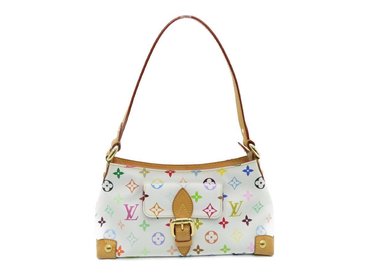 186b9c97d2ce Louis Vuitton. Women s Eliza Shoulder Bag M40098 Monogram Multicolore White  3513