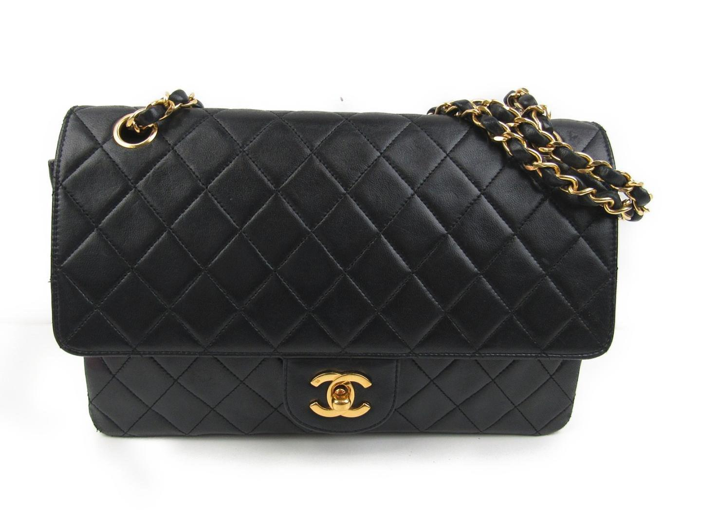 0a424c0a109fd Lyst - Chanel Matelasse W Flap Chain Shoulder Bag Lambskin Leather ...