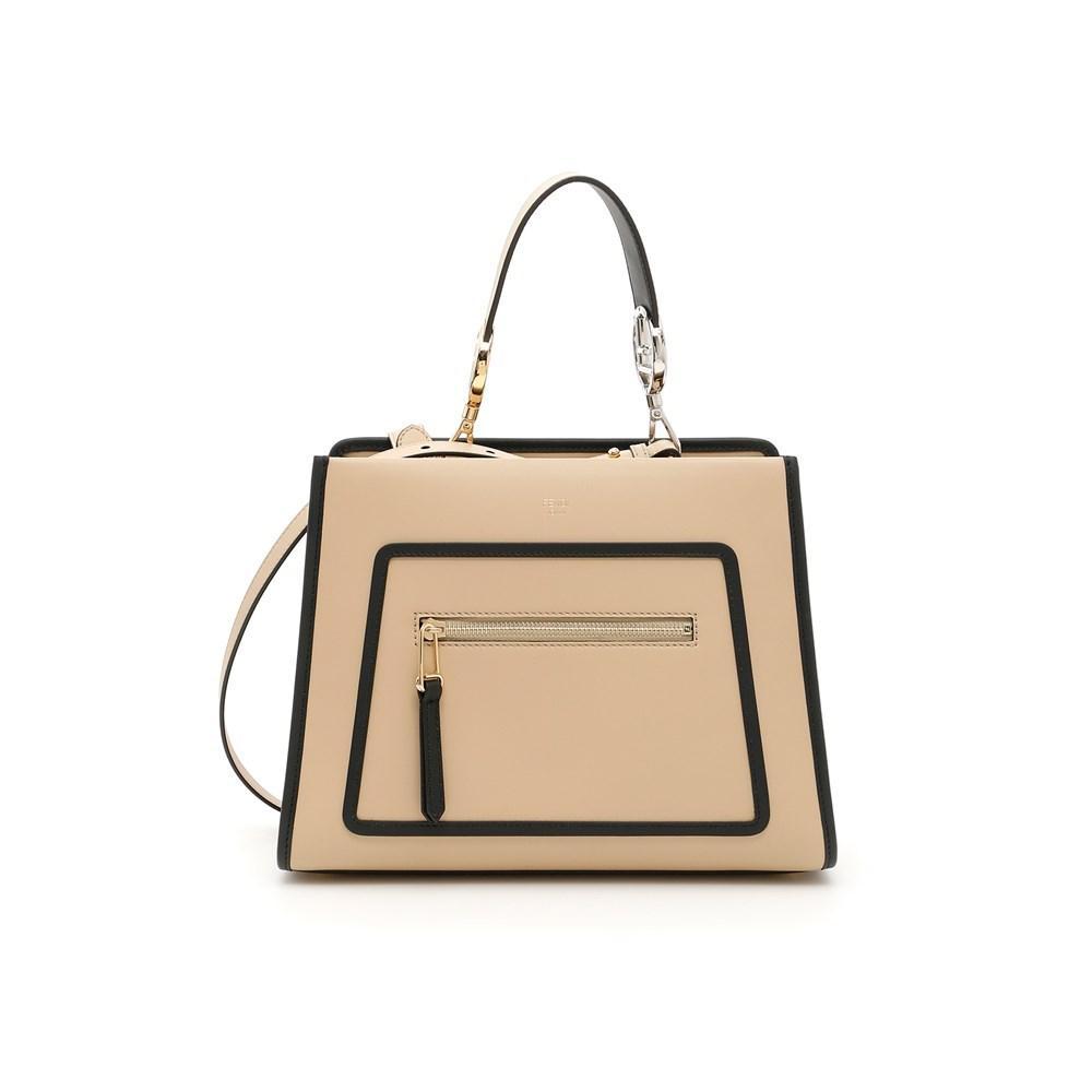 70e78f0e342a Lyst - Fendi Handbags Amido+nr in Natural