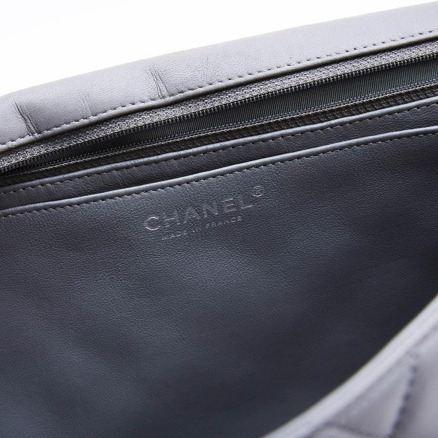77dde3663 Chanel Maxi Jumbo Bag In Pearl Grey Quilted Leather in Gray - Lyst
