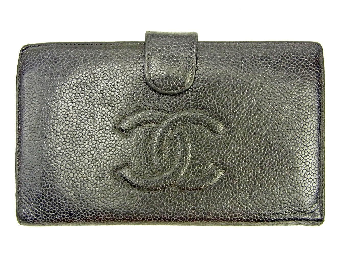f510723e9343 Lyst - Chanel Wallet Purse Wallet Caviar Skin Ladies Men  s Yes ...