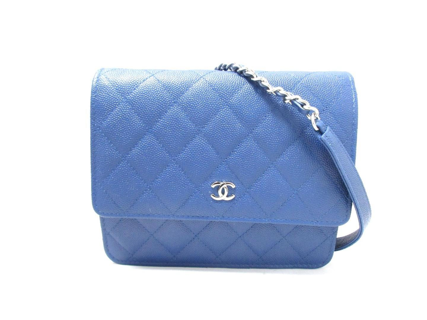 95c8feca89ca Lyst - Chanel Wallet On Chain Shoulder Bag Quilted Caviar Leather ...