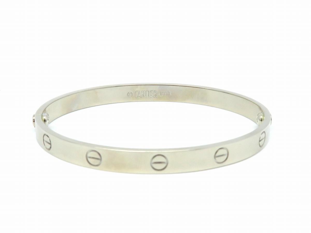 Cartier Metallic Love Bracelet 19 18k White Gold Silver Lyst View Fullscreen