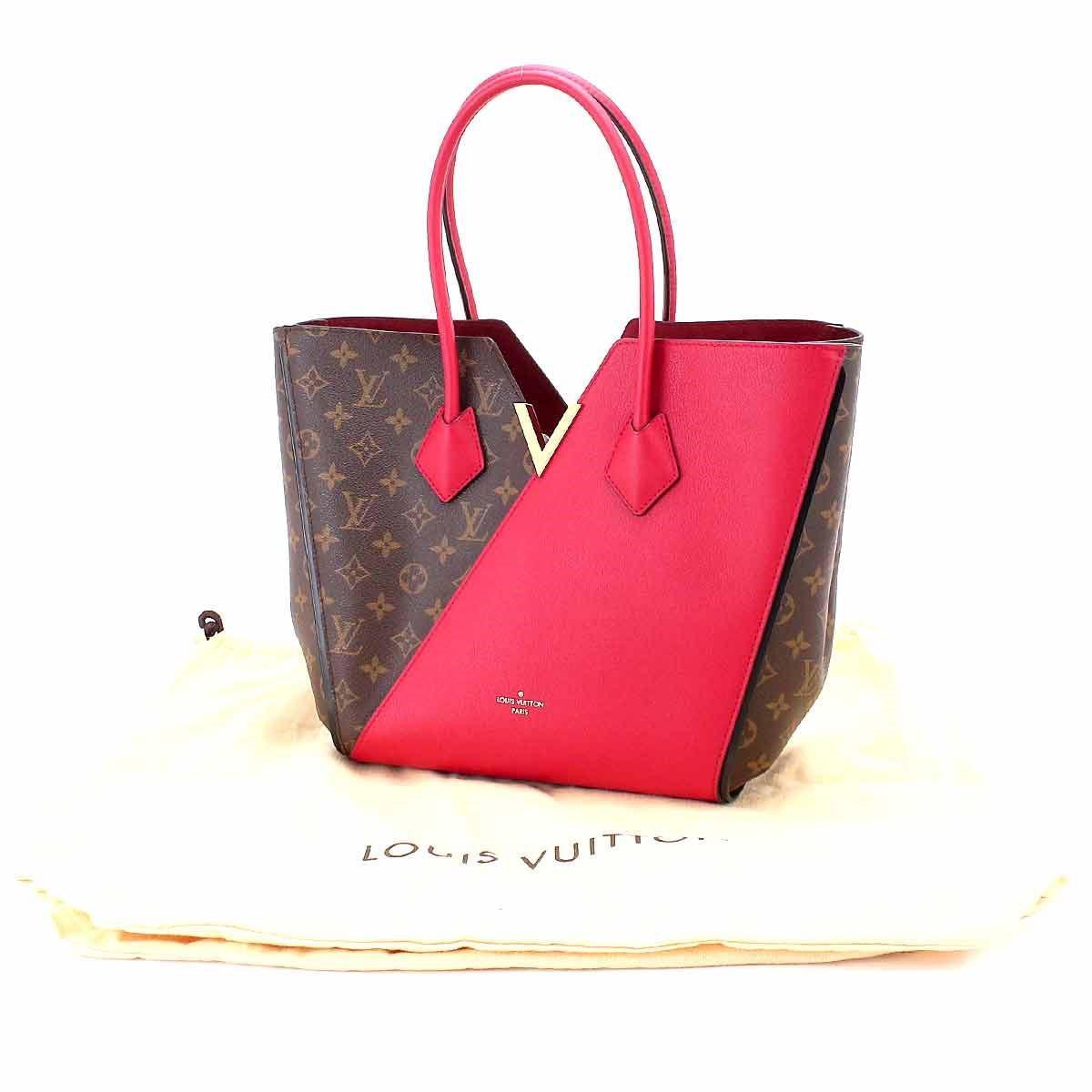 Lyst - Louis Vuitton Monogram Kimono Tote Bag Leather Cerise M40459 ... 03105a3bb1e