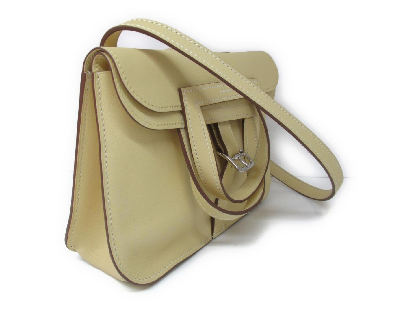 3837ed569b7e Lyst - Hermès Mini Halzan Shoulder 2way Handbag Veau Swift Leather ...