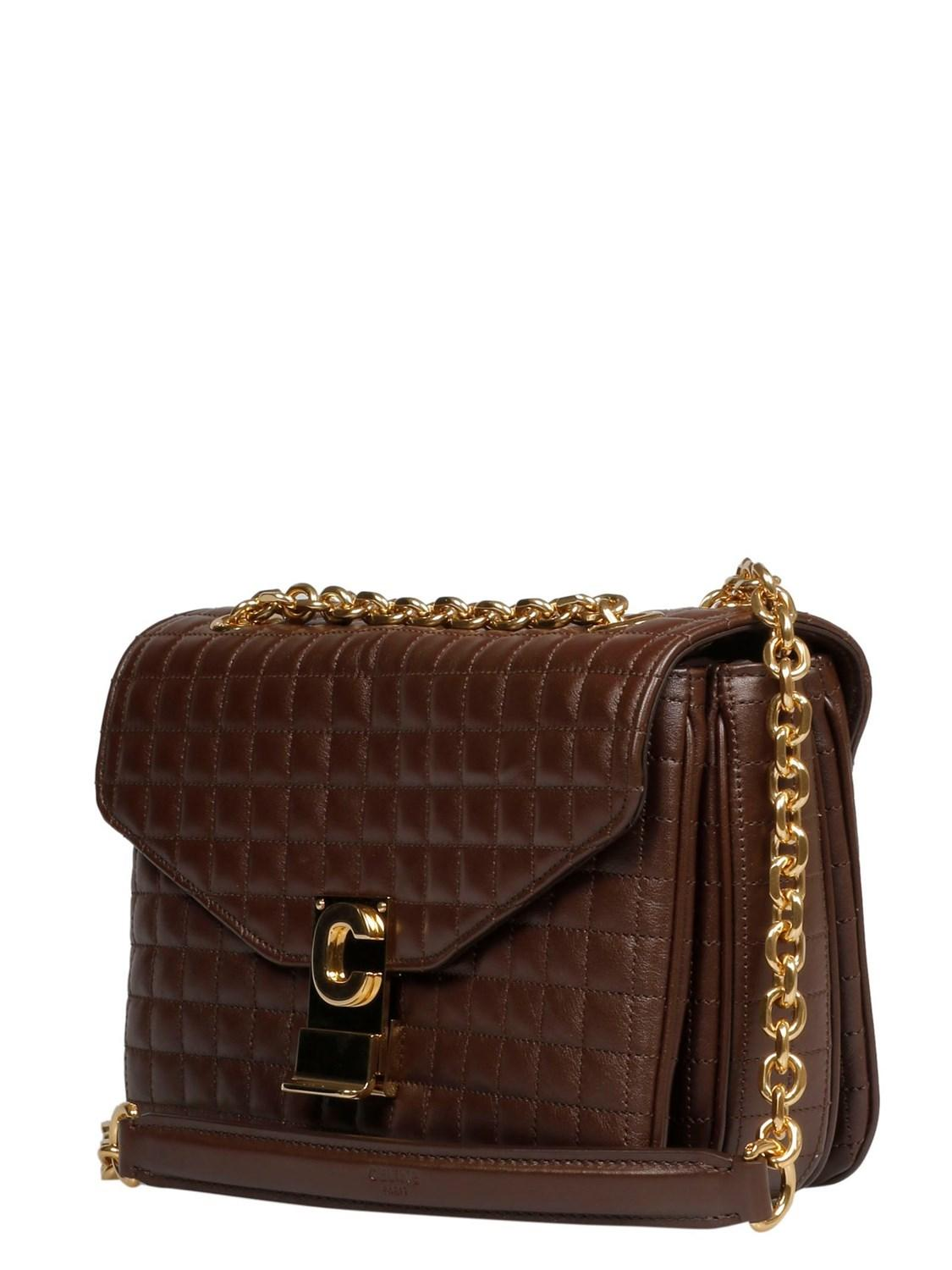 Lyst - Céline Céline Women s 187253bfc19br Brown Leather Shoulder Bag in  Brown de57a1c021354