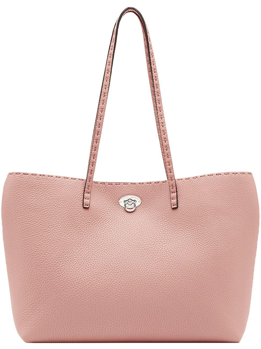 Lyst - Fendi Women s 8bh257q0jf13fb Pink Leather Tote in Pink e4e59897efd4b