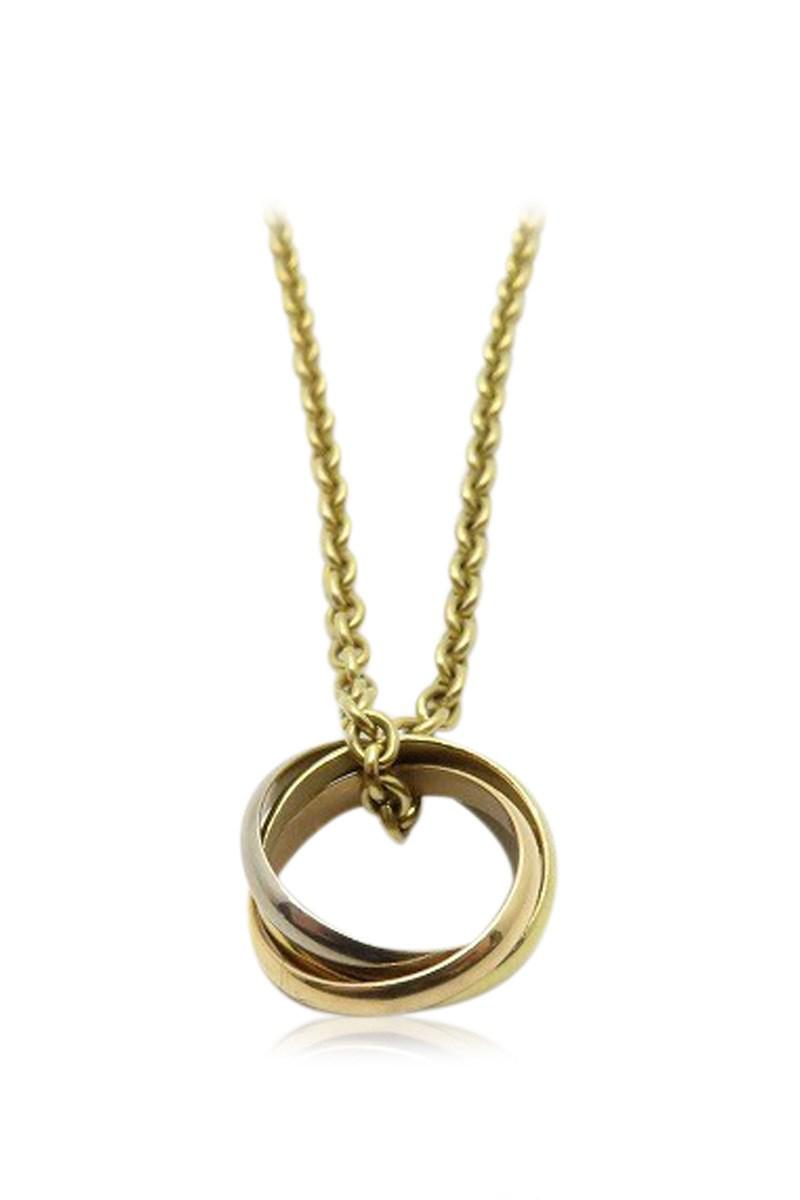 6d0f0b0ced352 Lyst - Cartier Trinity Necklace 18k Yellow Gold 6449 in Metallic