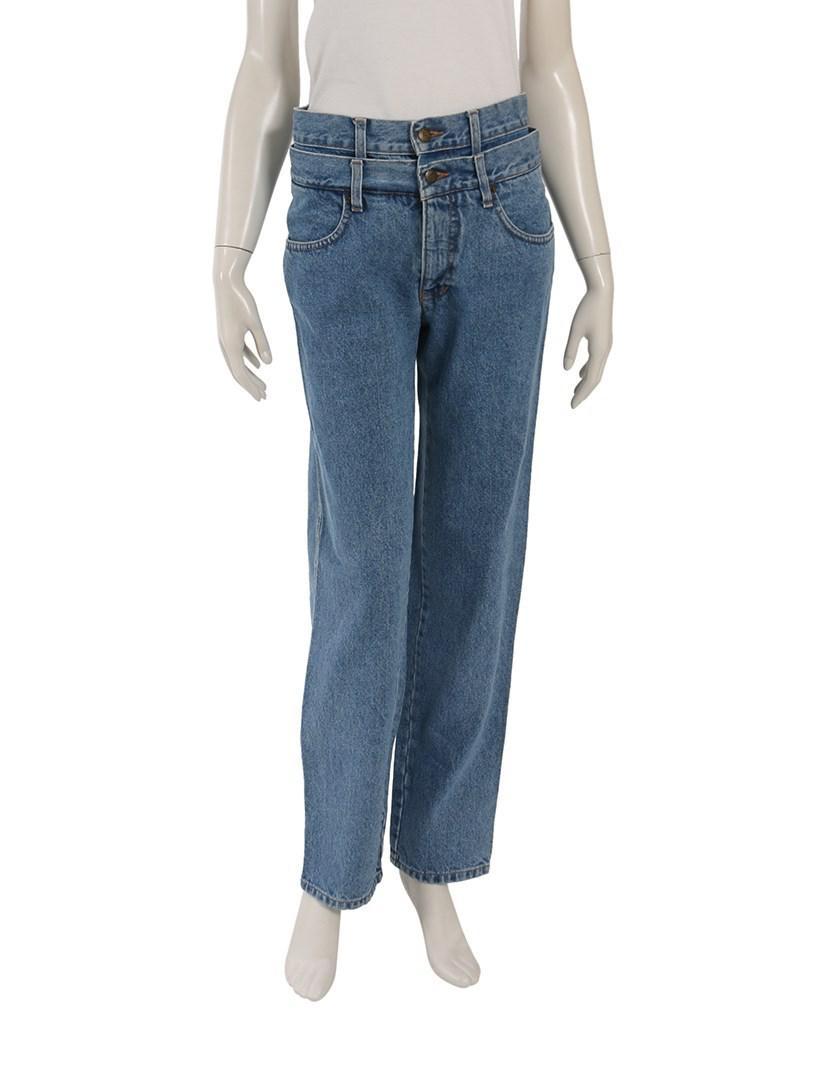 d1b3f6dd4dd Lyst - Fendi Denim Pants Cotton Light Blue Distressed in Blue
