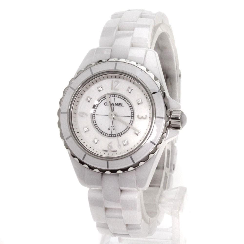 white accessories two chanel tone watches ladies lyst ceramic in gallery women steelceramic stainless
