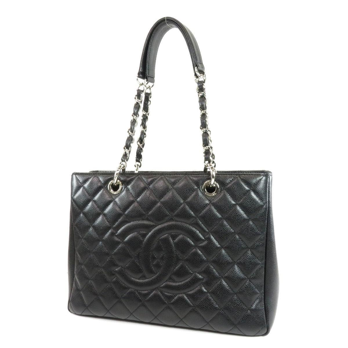 2a272fa1acbe Lyst - Chanel Caviar Skin Tote Bag Coco Mark in Black