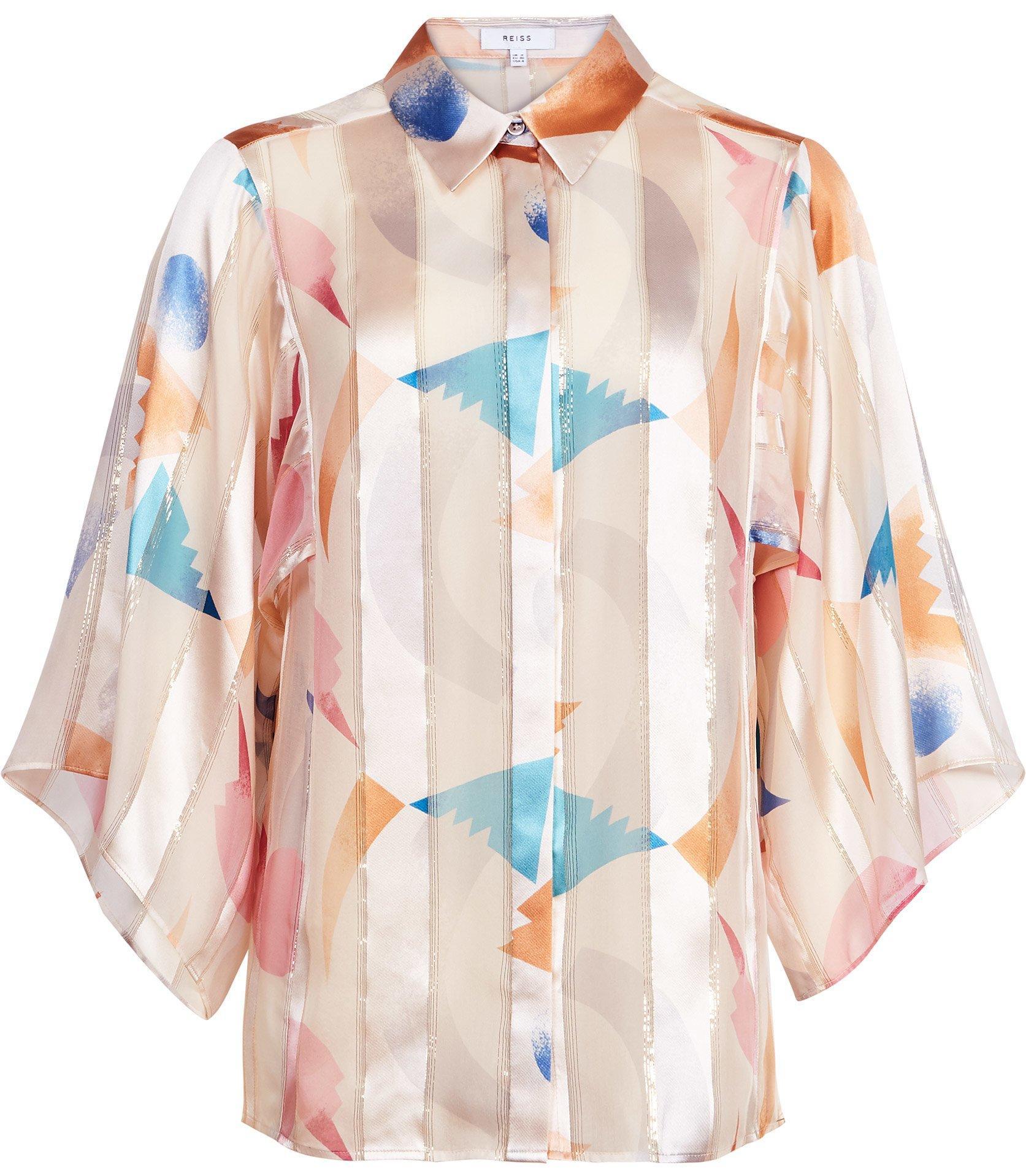 5229c1ef9b1ee Reiss Semina - Silk Wide Sleeved Blouse - Save 62% - Lyst