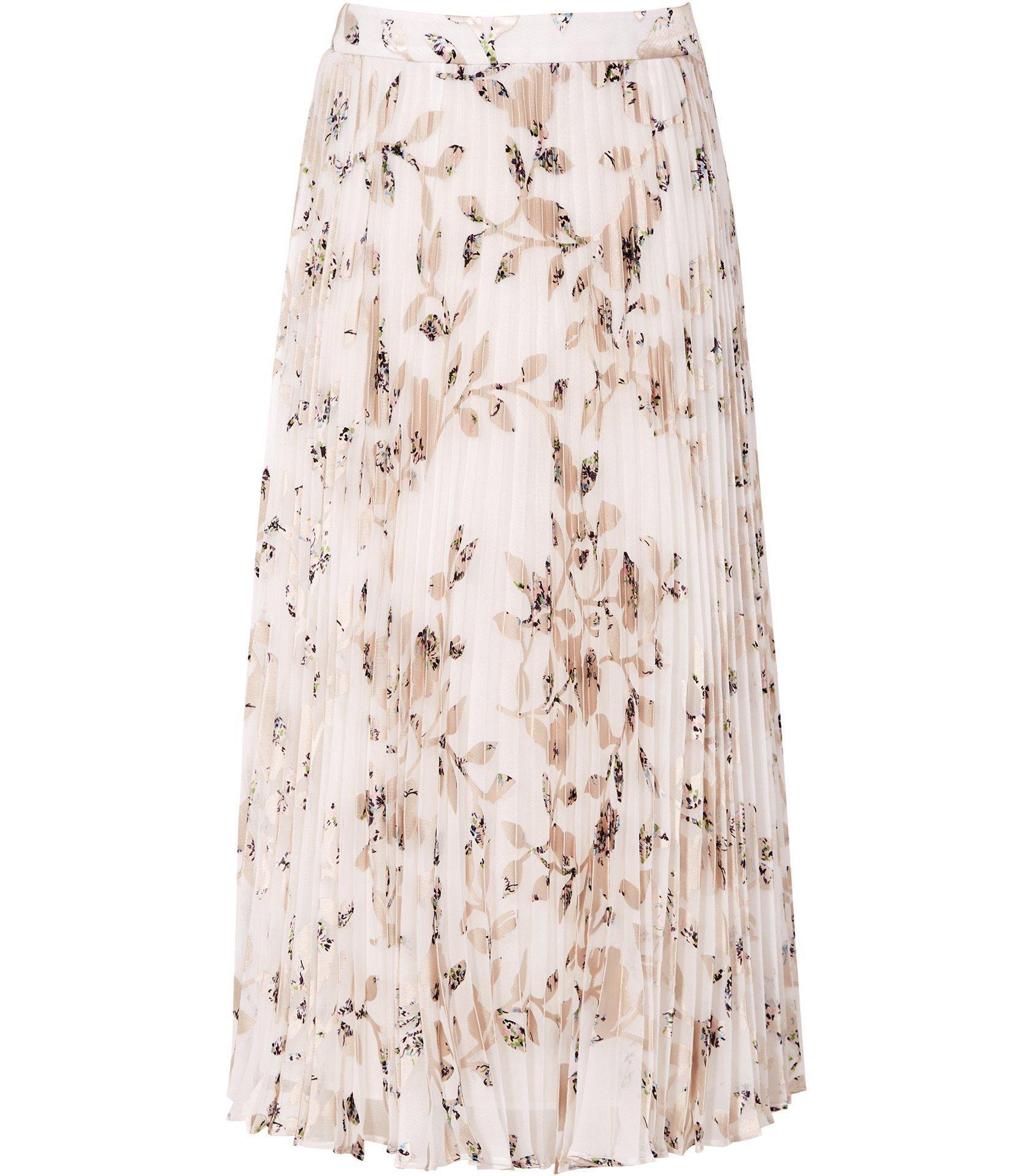 d7646dc1877f4 Reiss Alisandra - Floral Print Pleated Skirt - Lyst