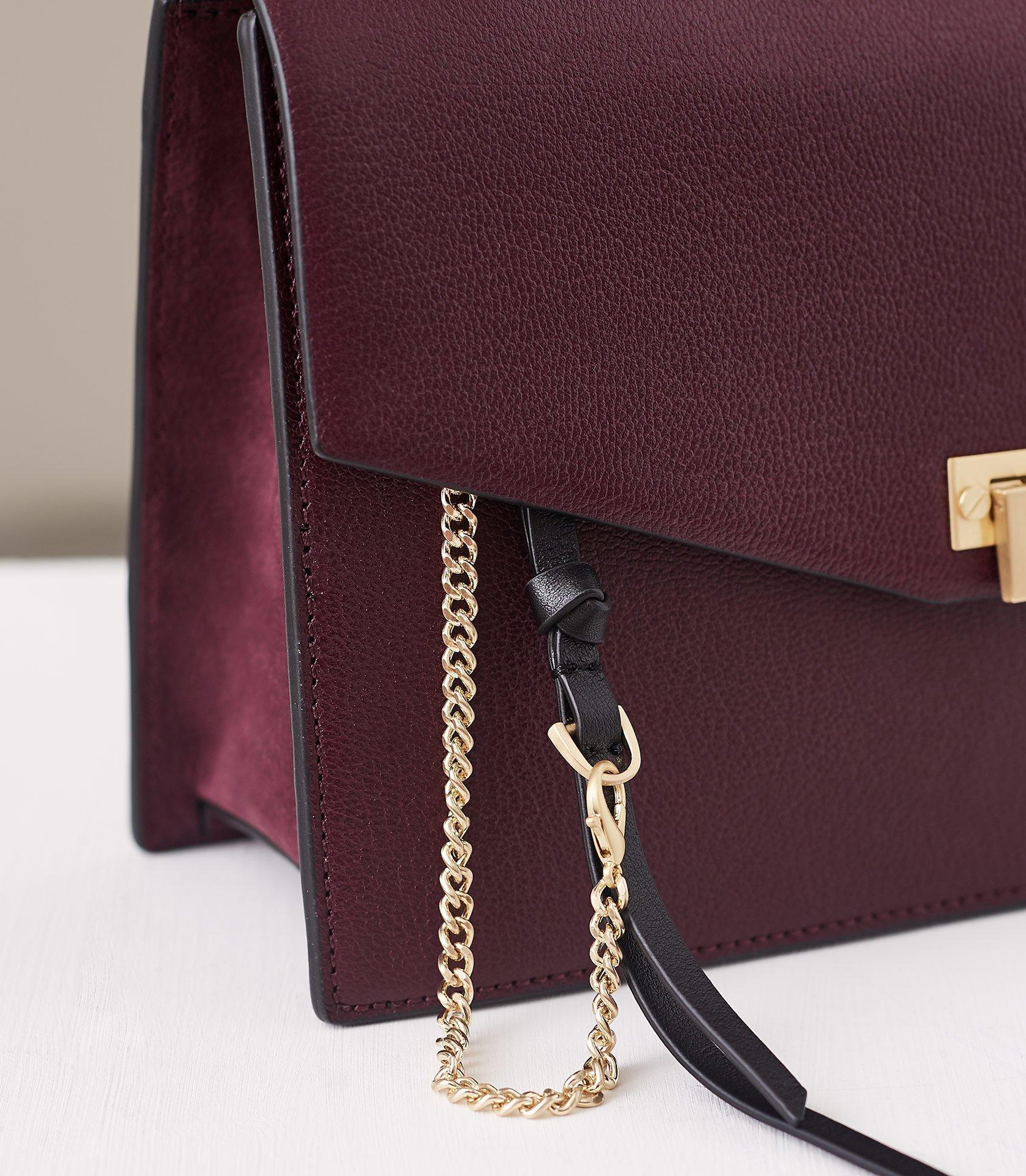 d9c02284aa Reiss - Purple Conway - Leather Lock Closure Shoulder Bag - Lyst. View  fullscreen