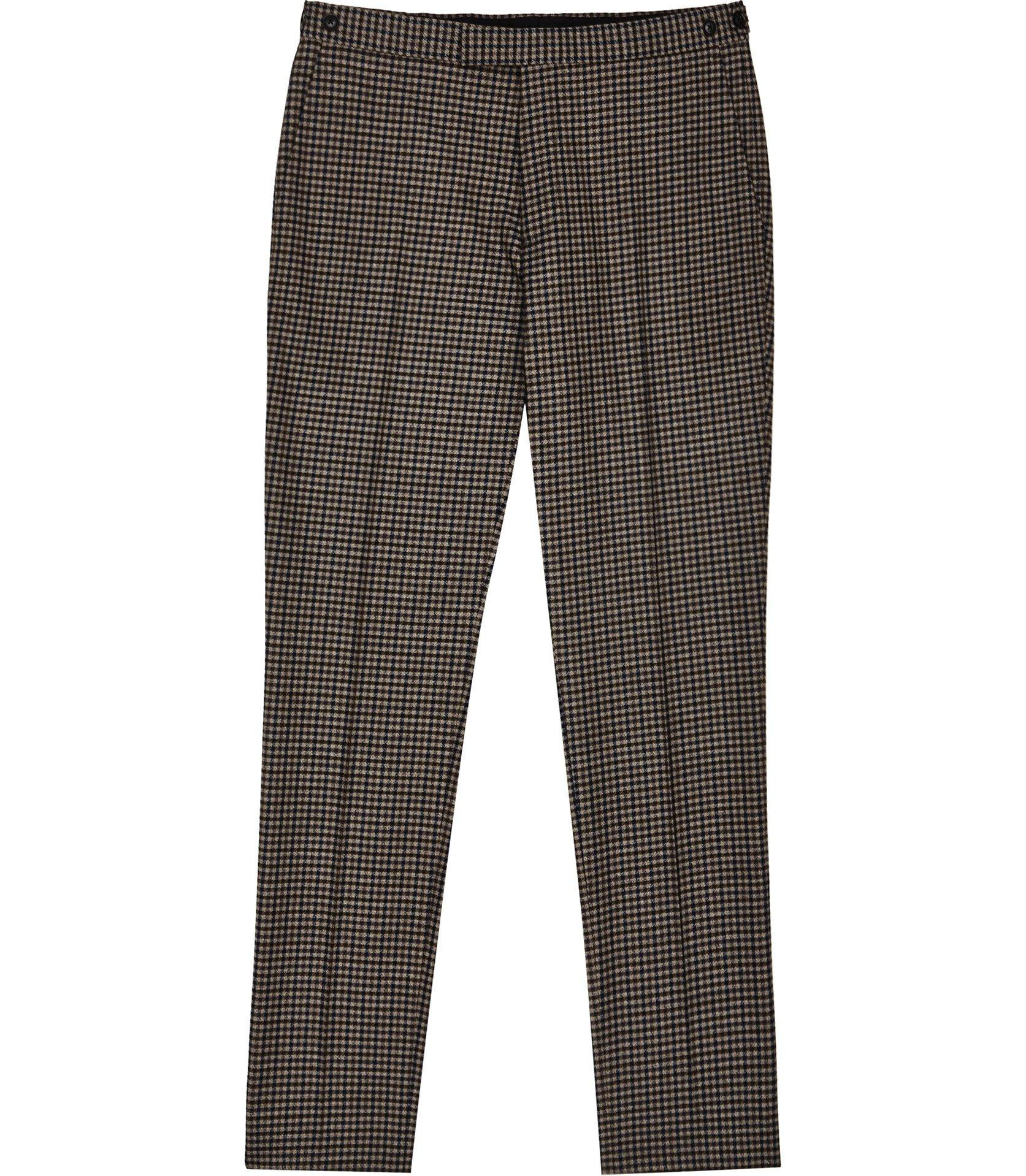 7f93b936150b Reiss - Brown Tripper - Houndstooth Checked Trousers for Men - Lyst. View  fullscreen