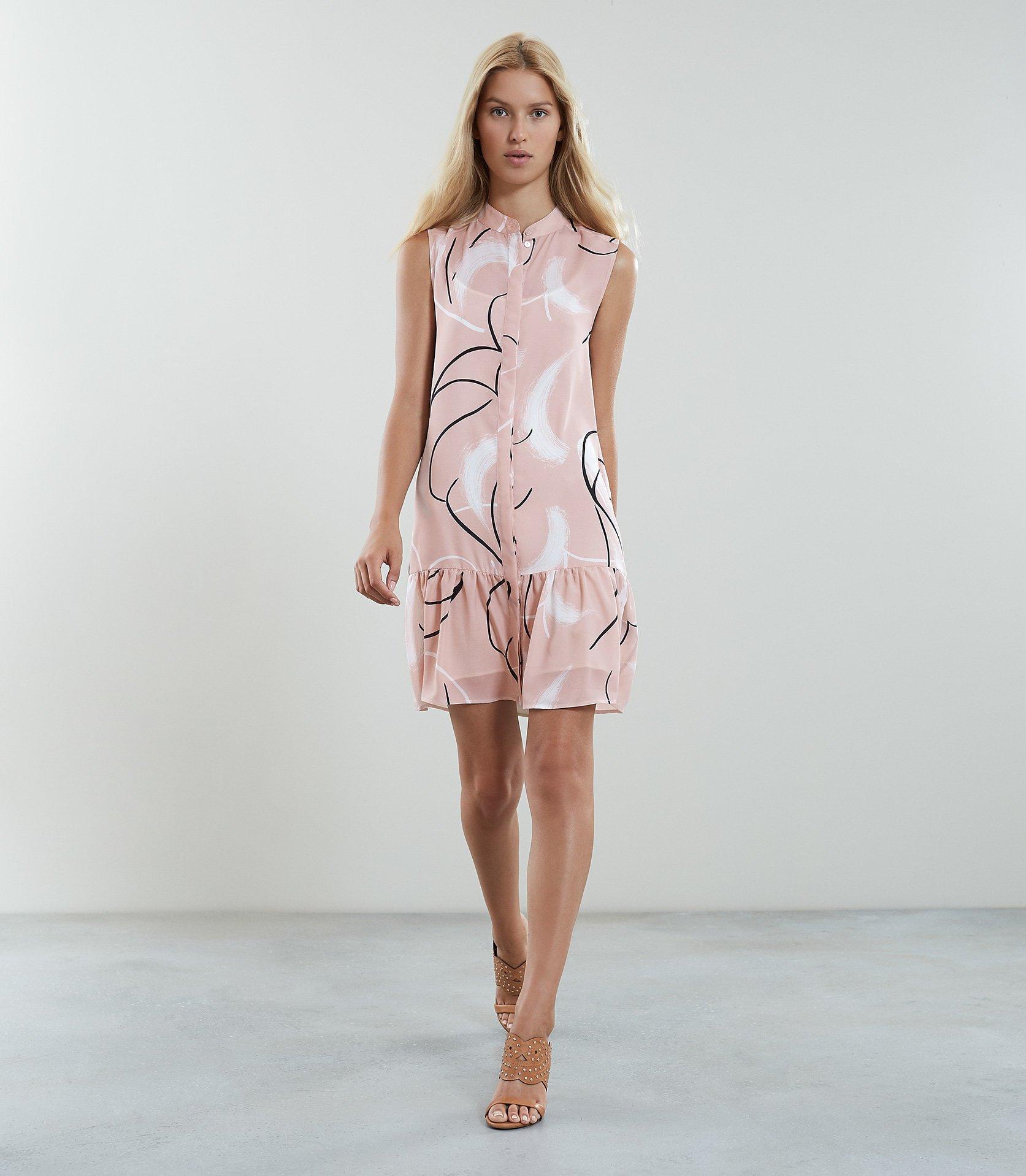 63de146bd4516 Reiss Anastasia - Printed Drop Waist Dress in Pink - Lyst