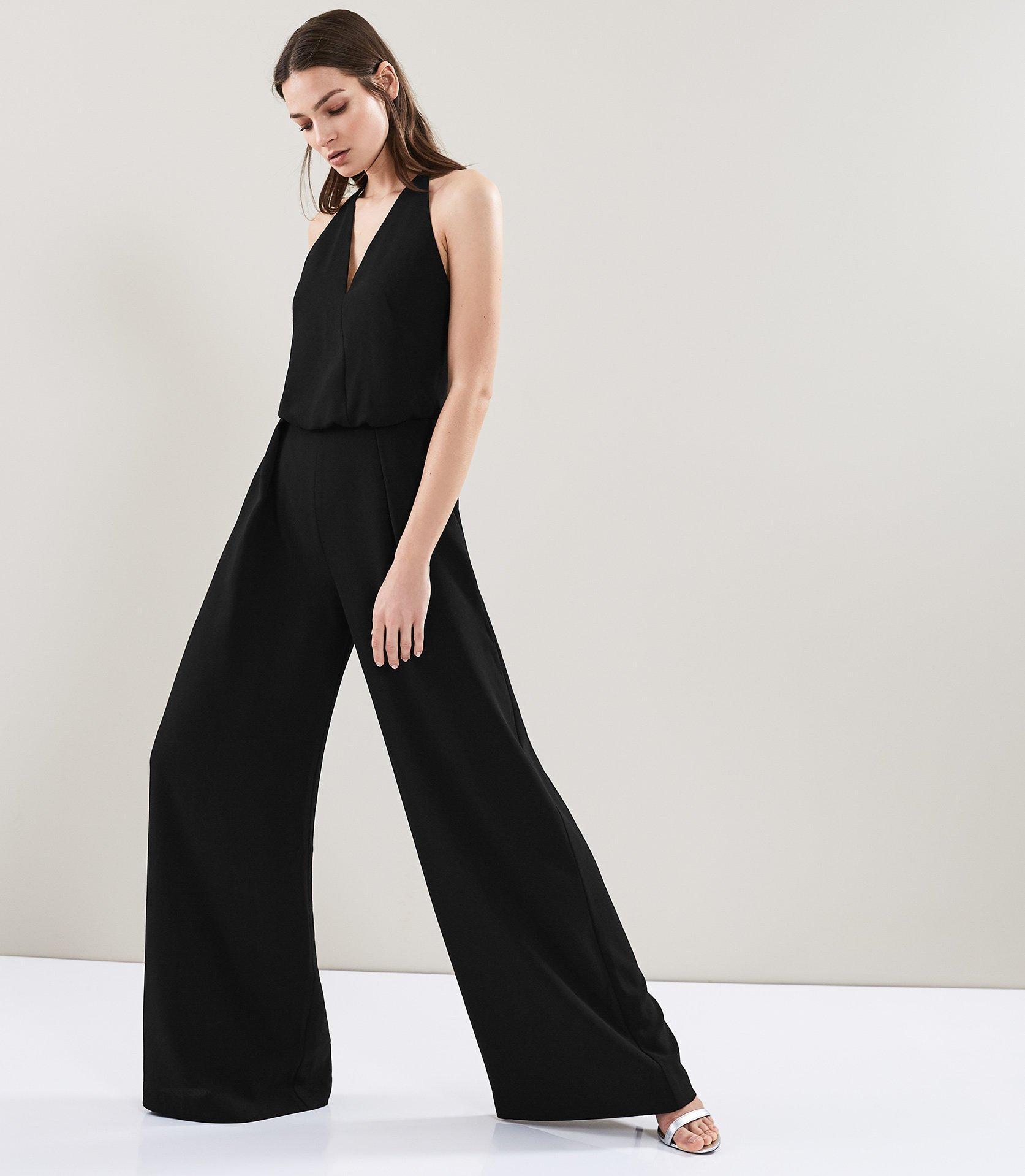 dc7401888d5 Reiss Yeva - Backless Strap Detail Jumpsuit in Black - Lyst