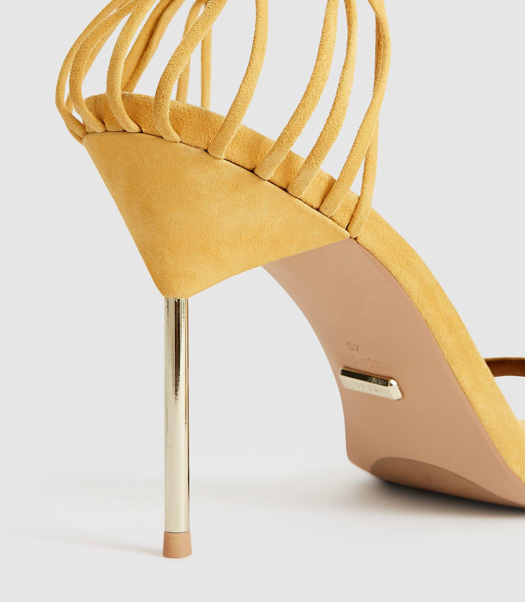 d847255962 Reiss - Metallic Zhane - Suede Strappy Wrap Sandals - Lyst. View fullscreen