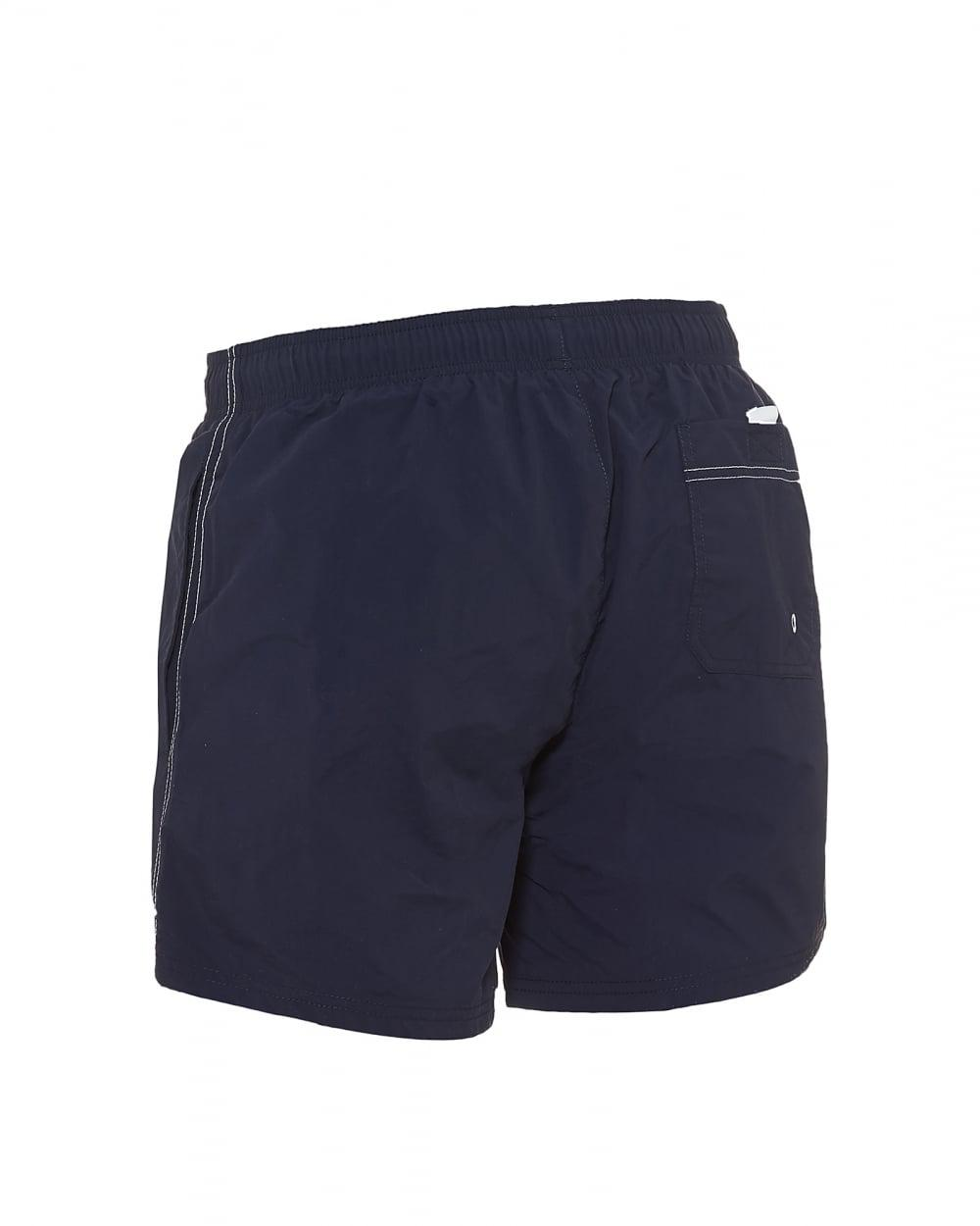 823b7ecdb9 BOSS Perch Swim Shorts, Plain Logo Navy Blue Swimming Trunks in Blue for Men  - Lyst