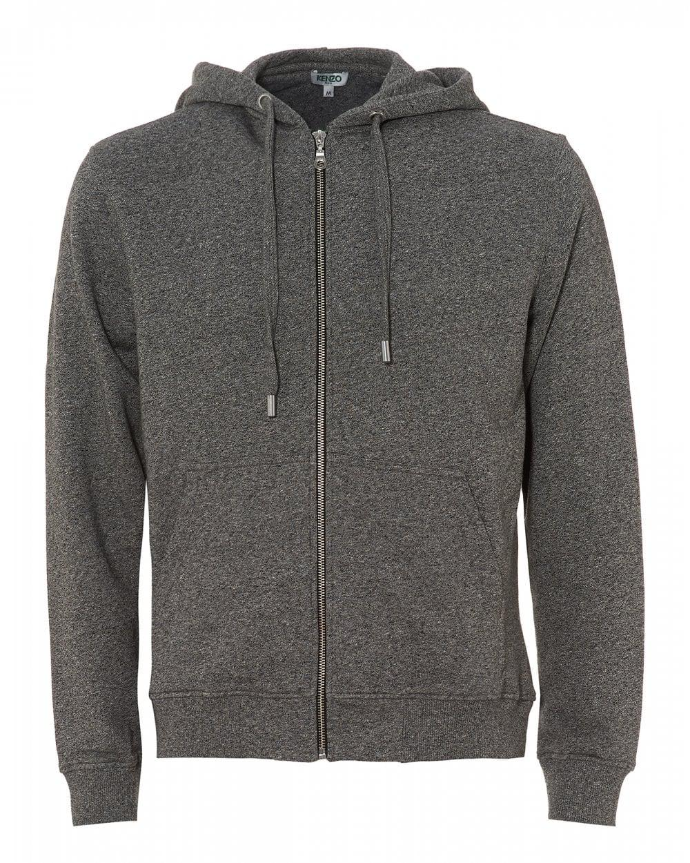b6c22fe3a1 KENZO Hooded Logo Zip Hoodie, Anthracite Grey Hooded Sweat in Gray ...