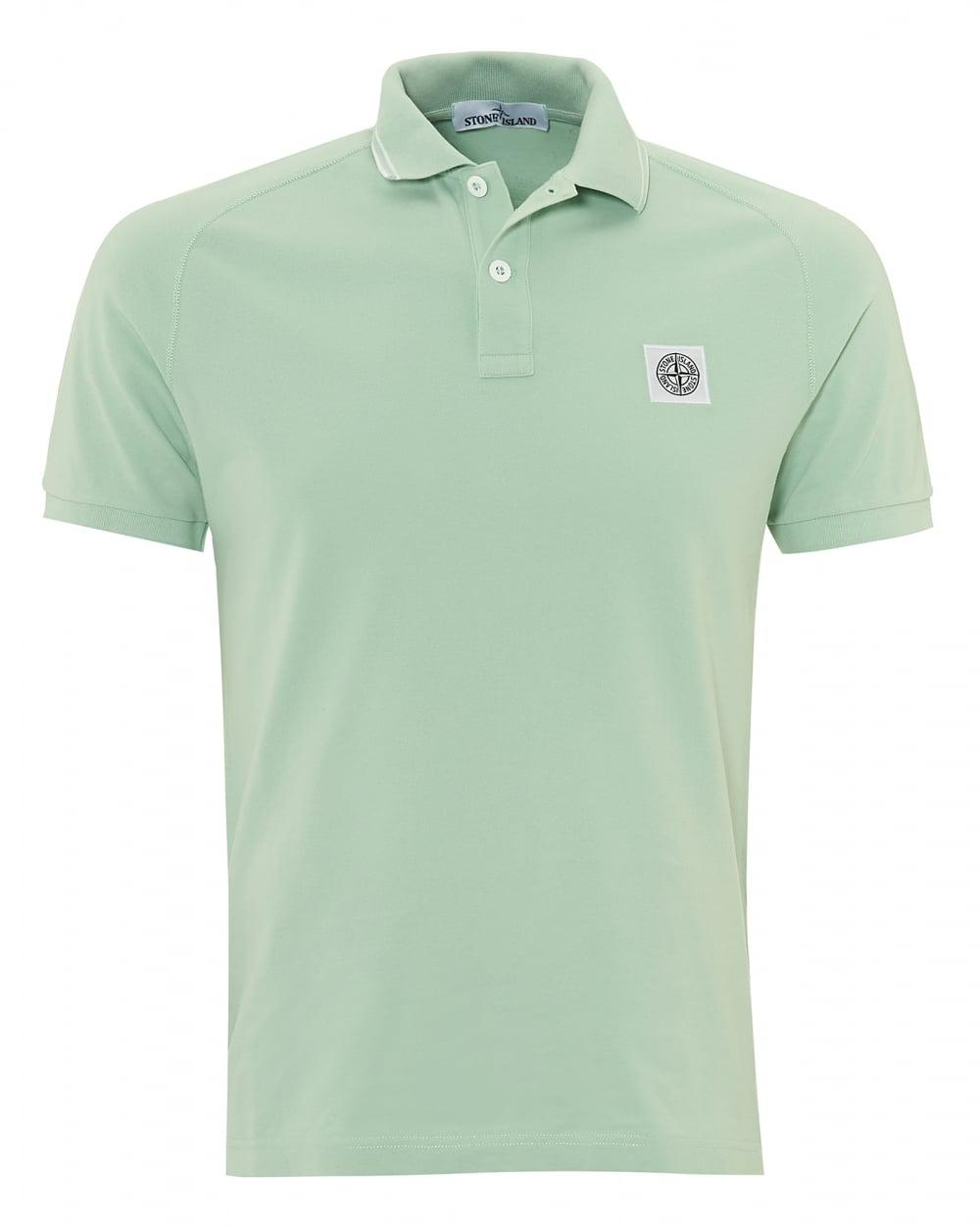 Lyst stone island mint compass logo polo green chest for Mint color polo shirt
