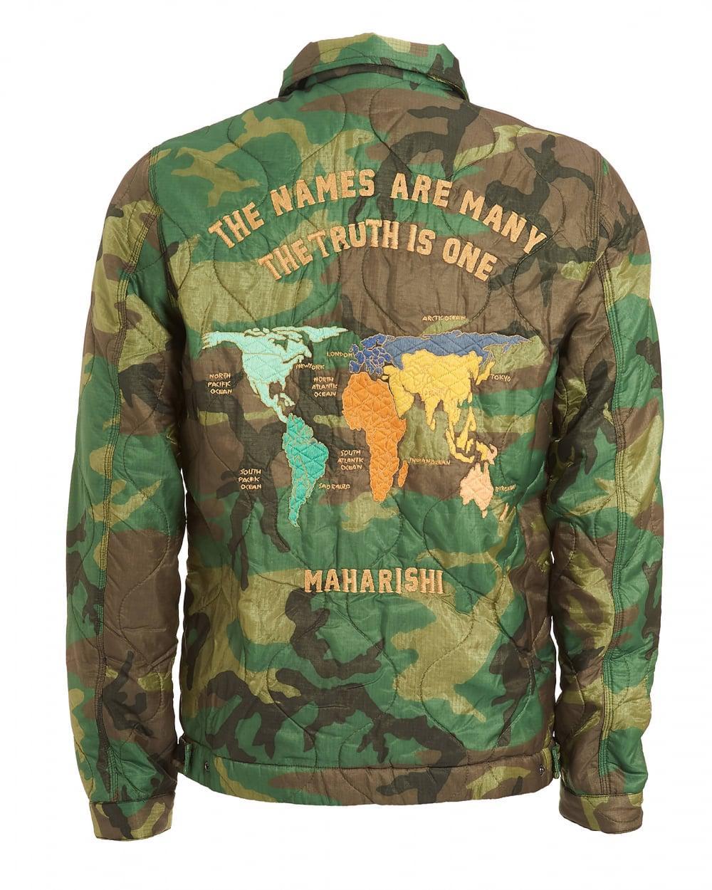 Lyst maharishi world map jacket vintage military surplus woodland view fullscreen gumiabroncs Gallery