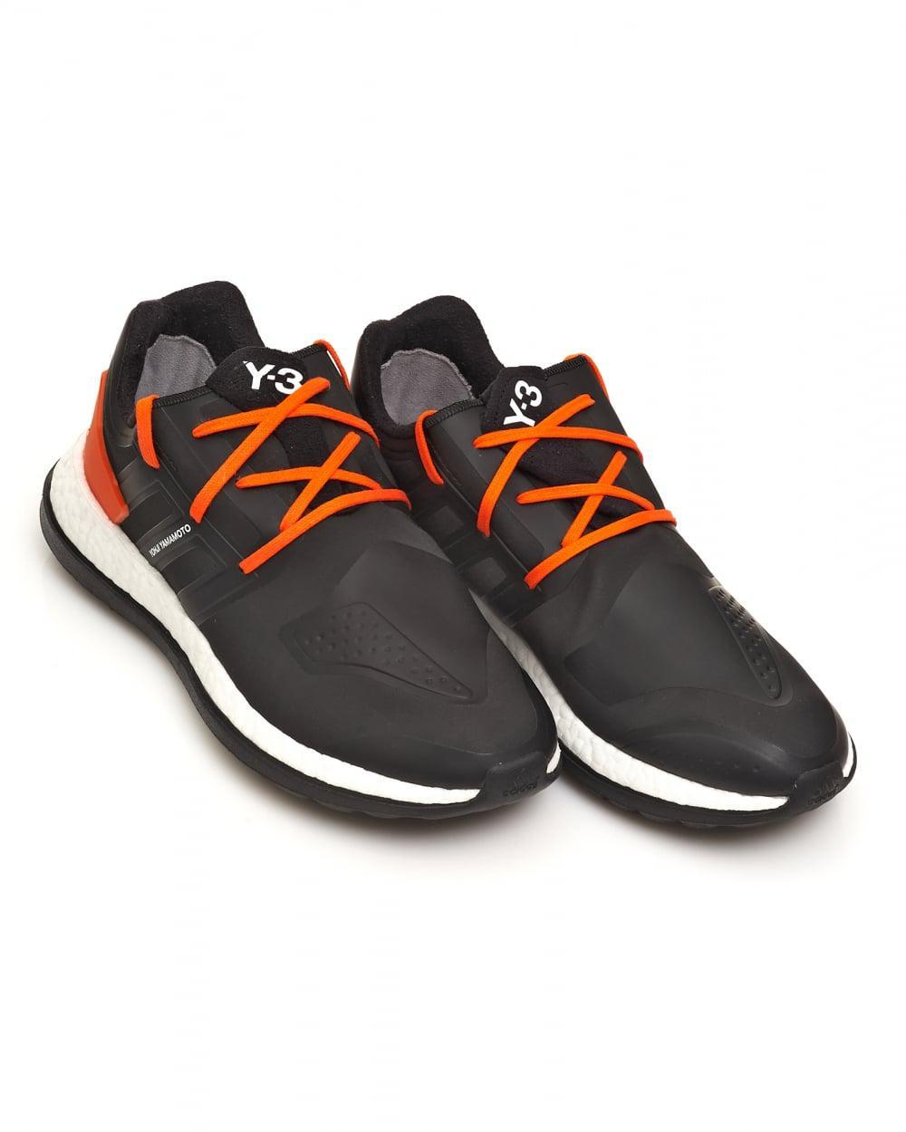 8c3db4c58a00b Lyst - Y-3 Pure Boost Zg Neoprene Black And Orange Trainers in Black ...