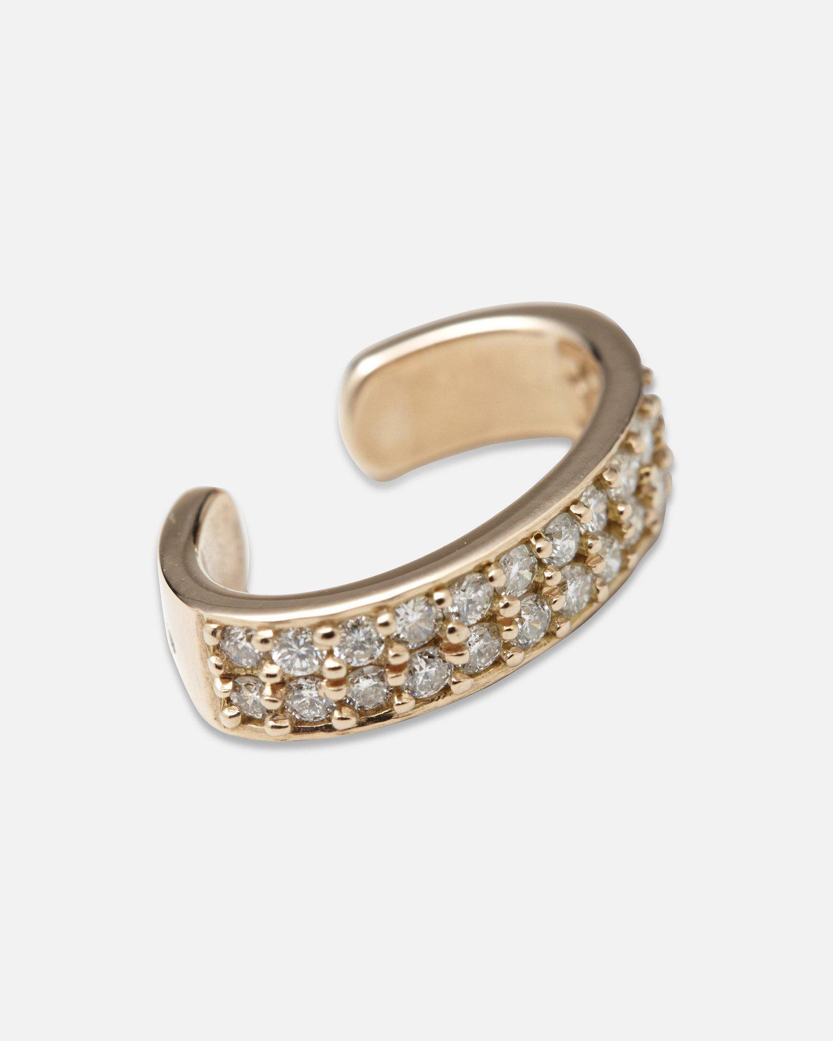 40b164688 Anita Ko Double Row Diamond Ear Cuff in Metallic - Lyst