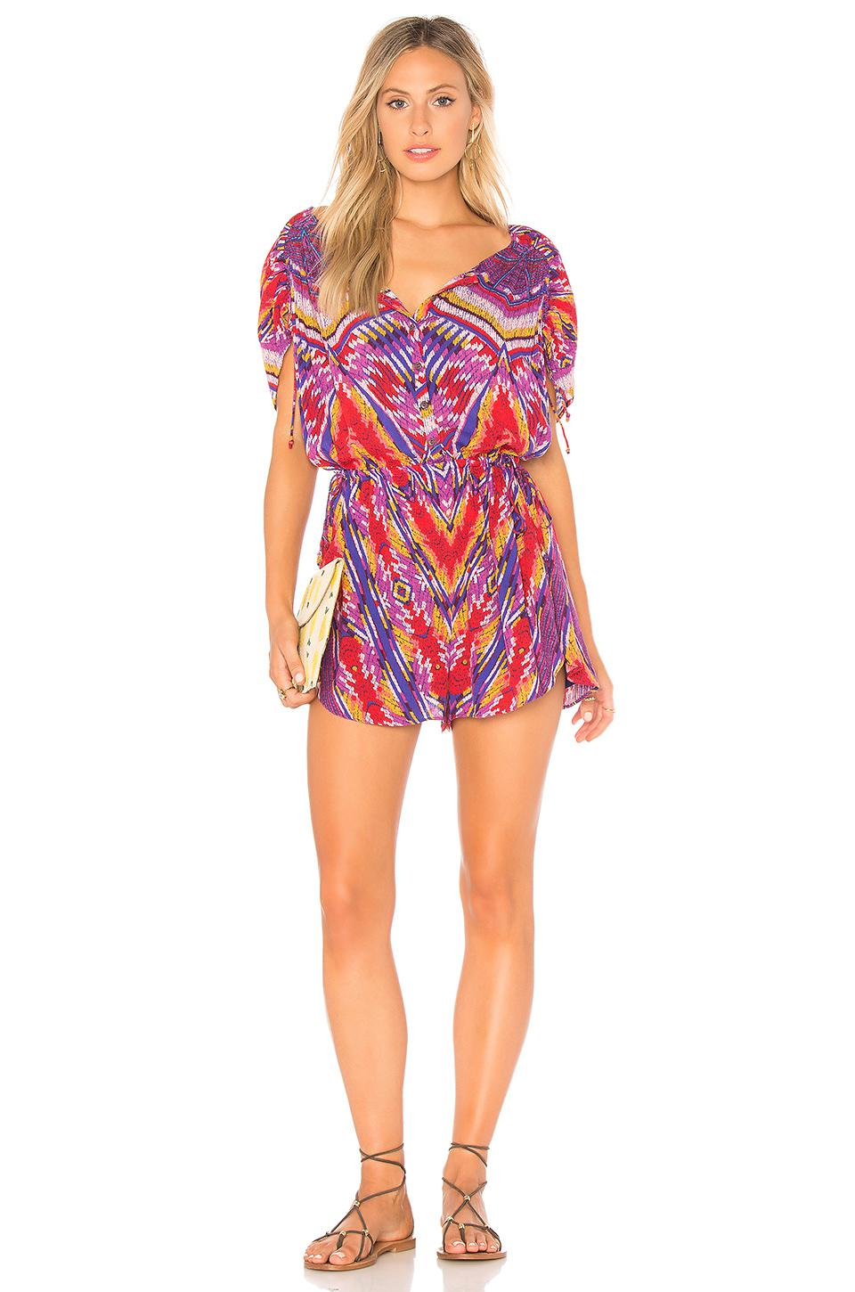df476df60ce Lyst - Free People Dream All Night Romper in Purple