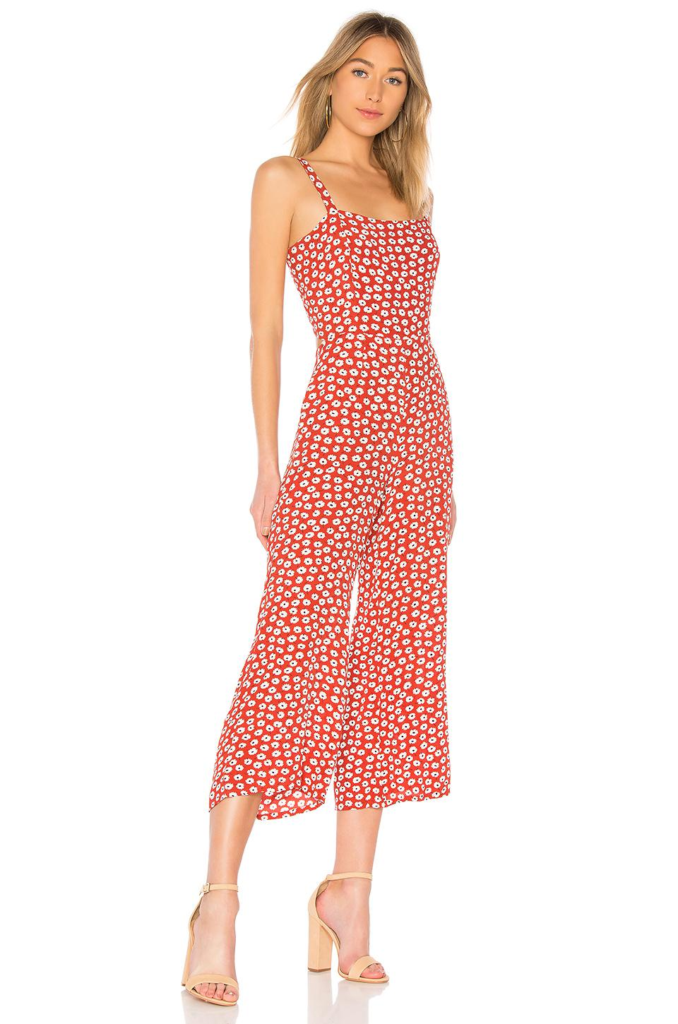 ad7e0715aabe Lyst - Faithfull The Brand X Revolve Playa Jumpsuit in Red
