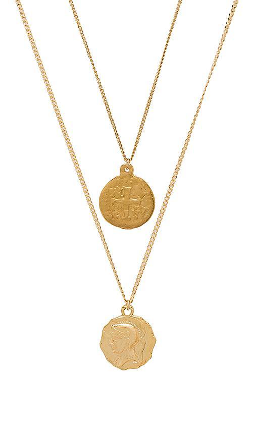 Mini Beaded Choker Lariat Set in Metallic Gold Joolz by Martha Calvo LtbdH