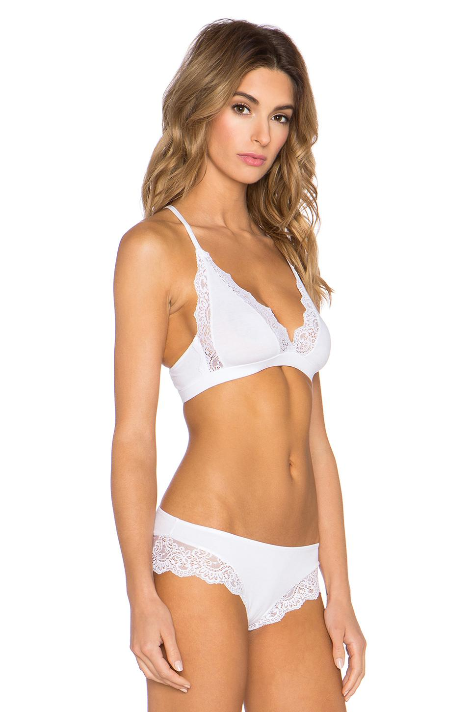 c899c93a94 Only Hearts - White So Fine With Lace Triangle Racer Back Bralette - Lyst.  View fullscreen