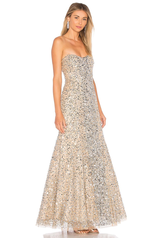 c8105820082 Parker Black Renee Embellished Gown in Metallic - Lyst