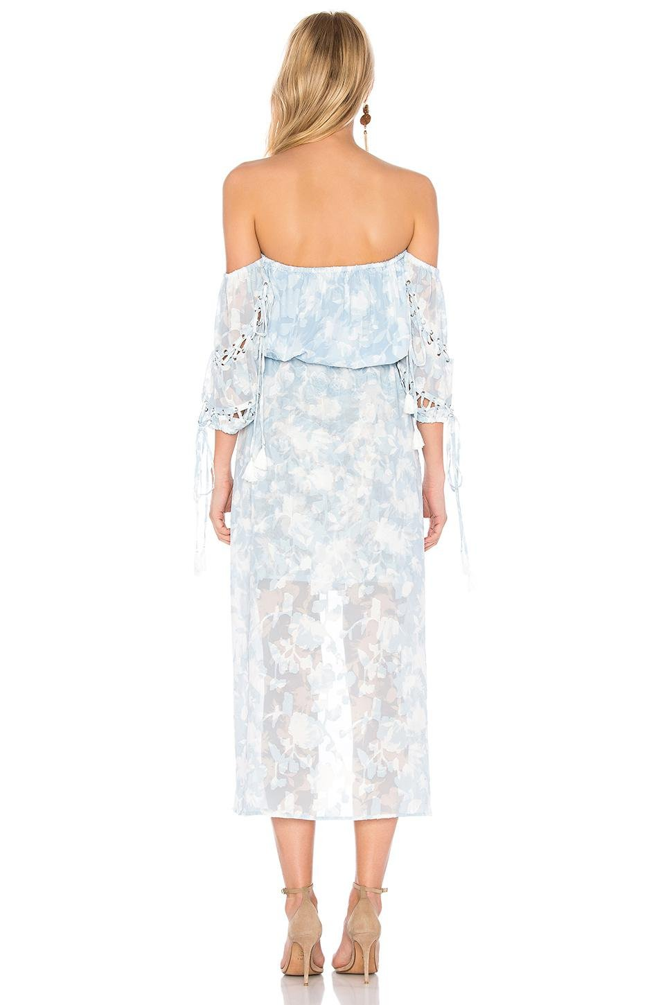 3244cb10f358 Lyst - We Are Kindred Morning Frost Off Shoulder Dress in Blue