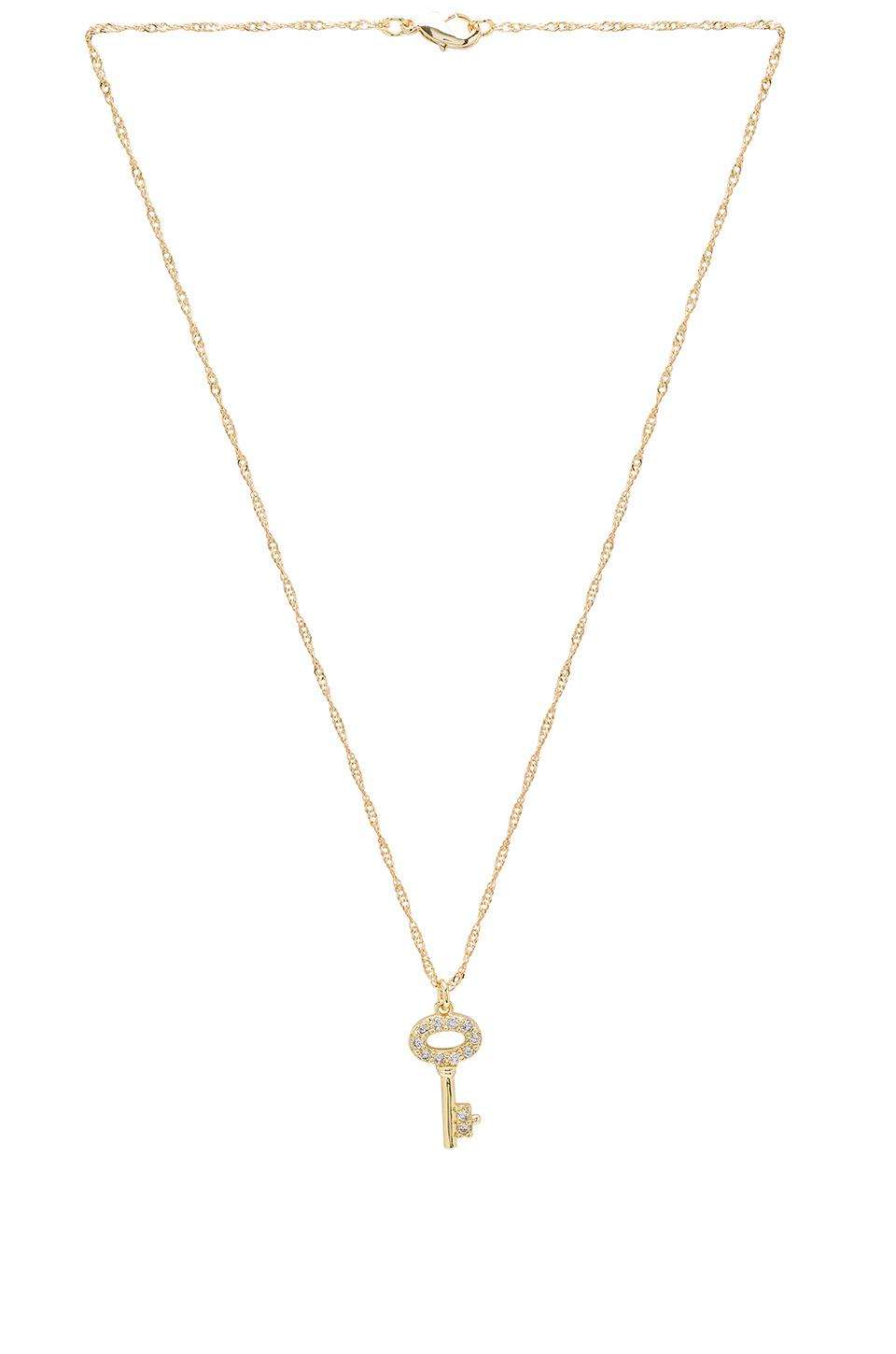 Key & Lock Necklace Set in Gold Frasier Sterling U2SXw
