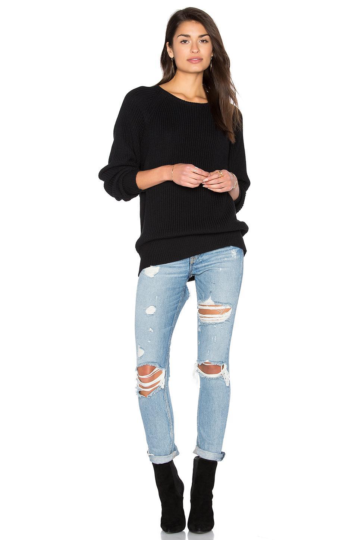 Callahan Boyfriend Sweater in Black | Lyst