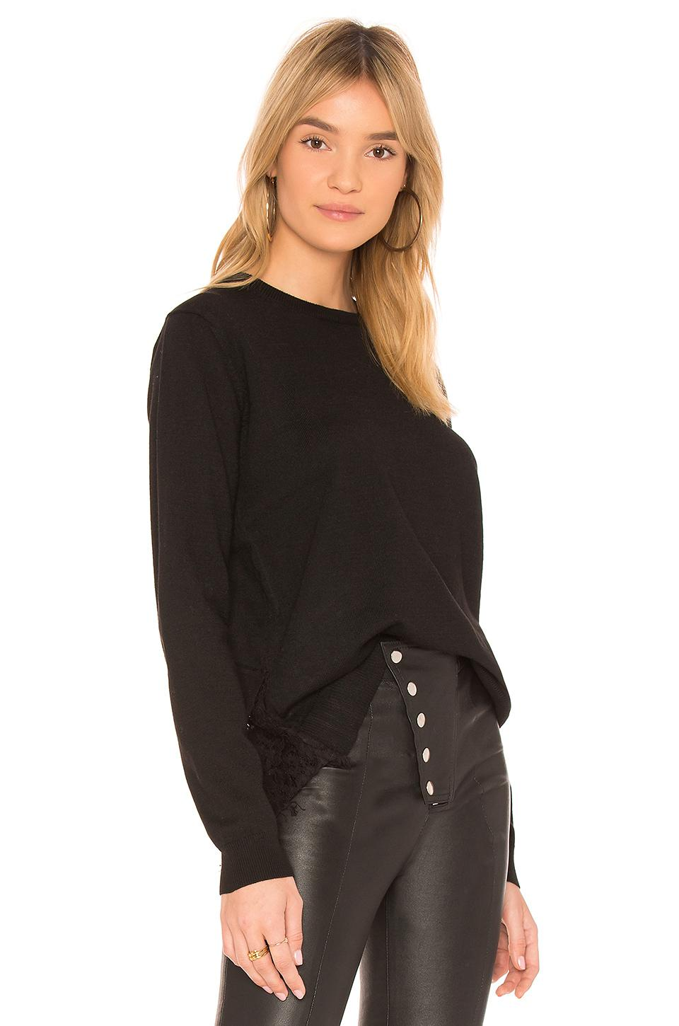d9aa3498a Lyst - Heartloom Reeve Lace Sweater in Black