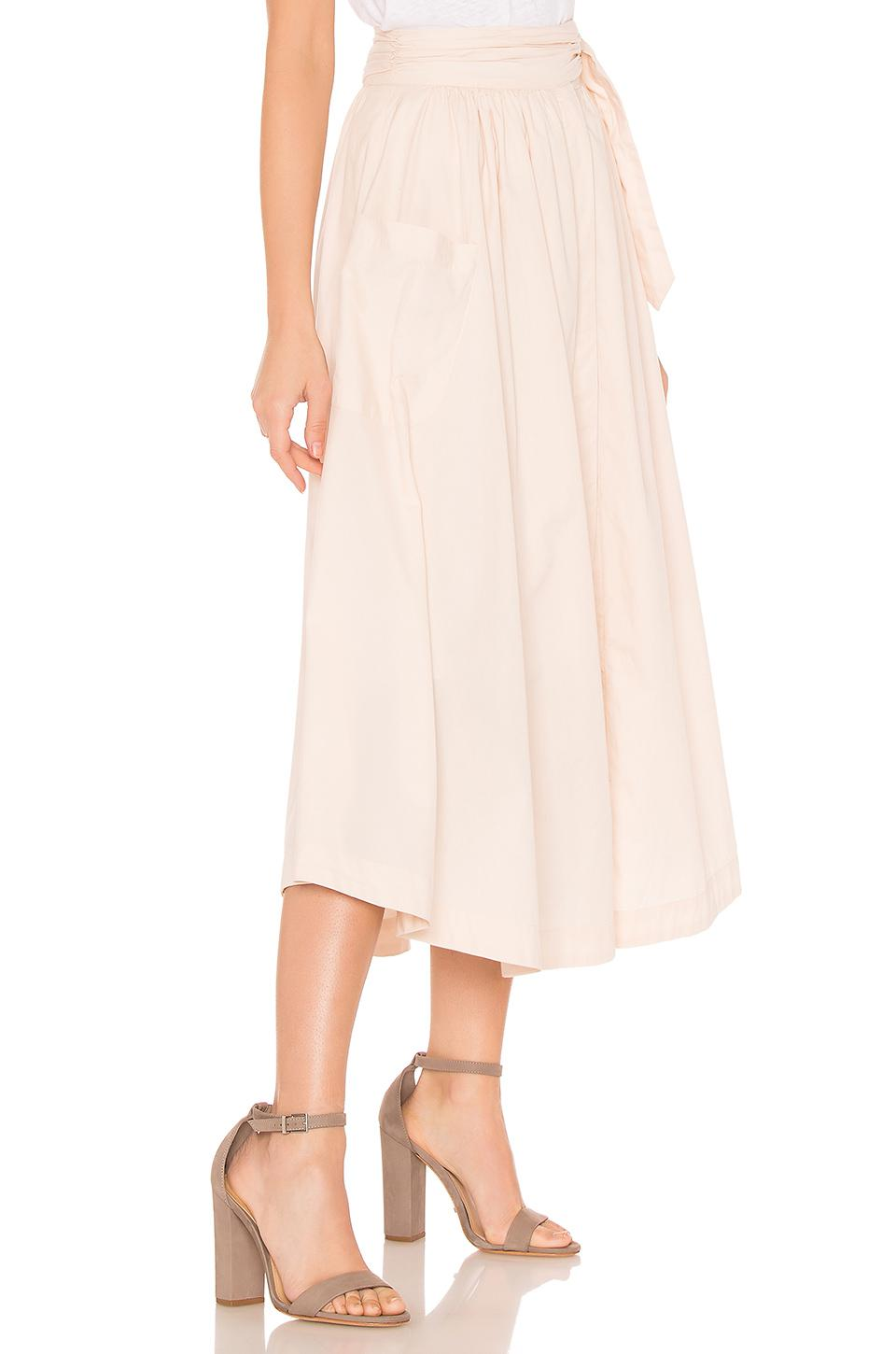 a53a5d8713 Lyst - Free People Dream Of Me Midi Skirt in Pink