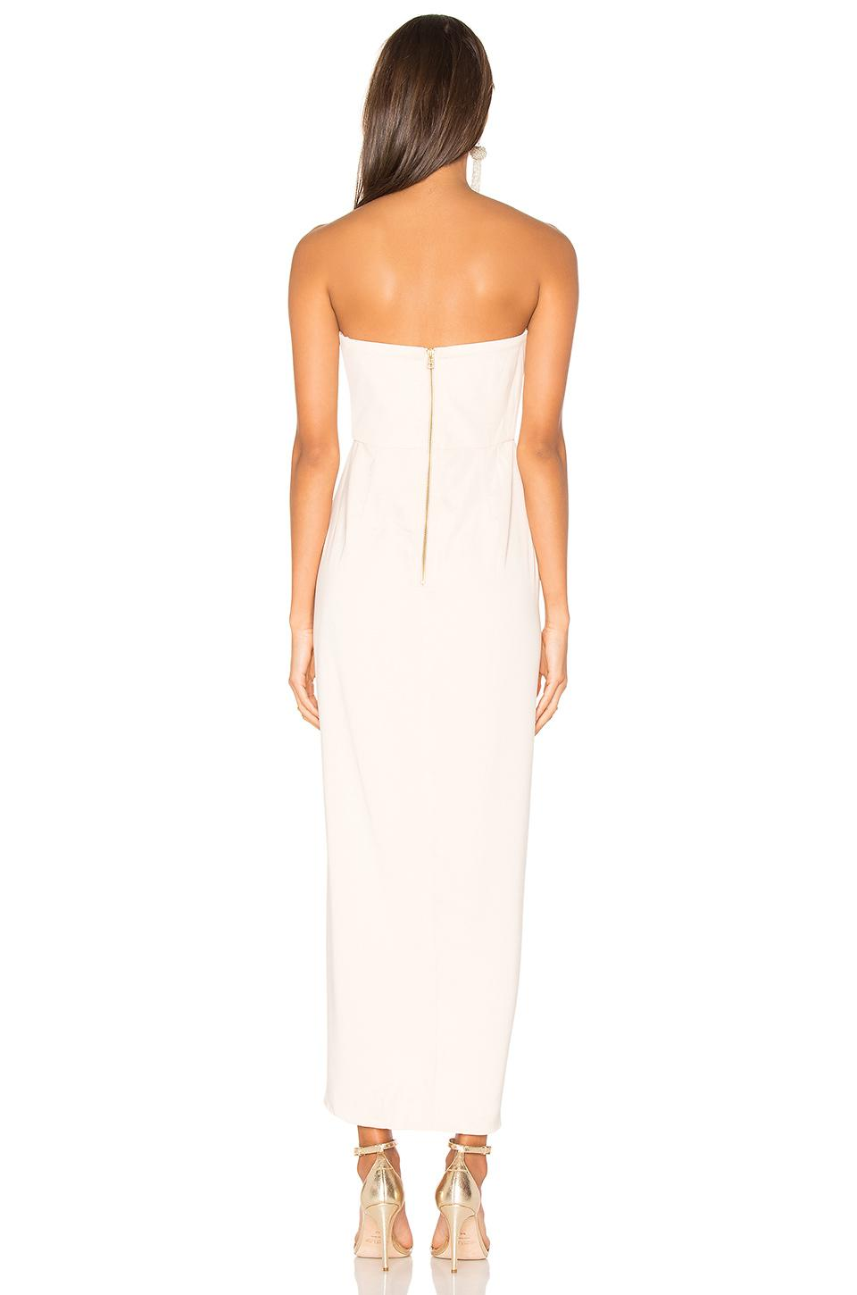 1ef33035b6 Shona Joy - Natural Bustier Draped Maxi Dress - Lyst. View fullscreen